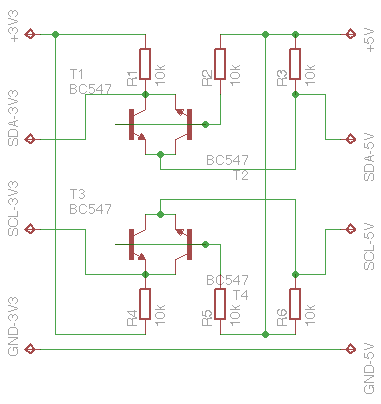 I2C Bi-directional Level Shifter 3V3 - 5V