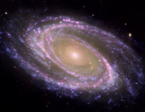 Multiwavelength image of M81 galaxy (courtesy of NASA Images)