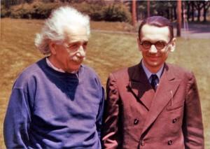 Einstein and Goedel - Princeton 1950